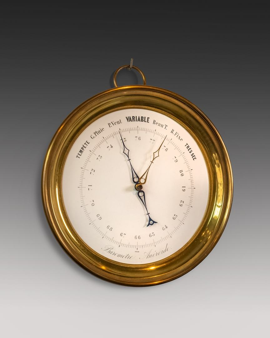 Franse aneroide barometer grootmodel